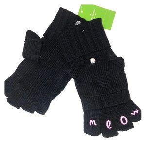 Kate spade fingerless gloves meow pop top mitten